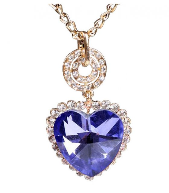 N2132 - Love heart crystal necklace