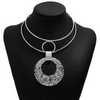 N2138 - Geometry Metal Collar Necklace