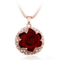 N2146 - Korean rose alloy Necklace