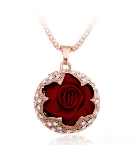 N2146 - Korean rose alloy Necklace