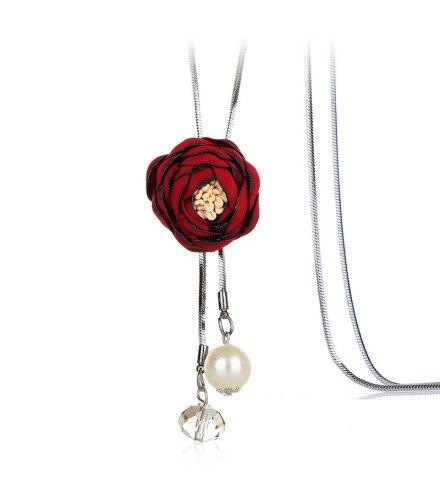 N2148 - Korean wild flower pendant Necklace