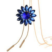 N2151 - Korean sun flower crystal necklace