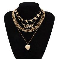 N2152 - Temperament geometric multi-layer necklace