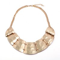 N2157 - Fashion Metal Glossy Vintage Necklace