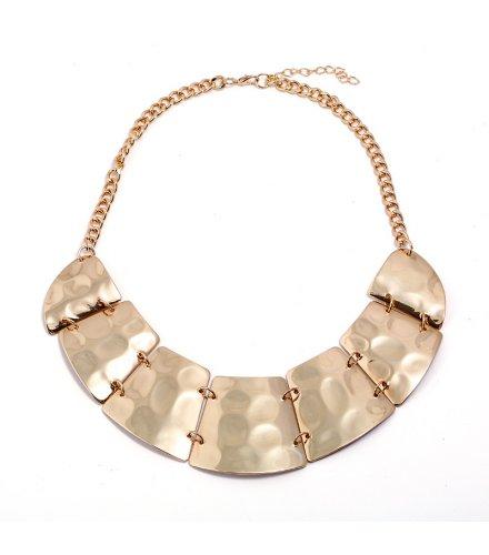 N2157 - Fashion Metal Glossy Vintage Necklace