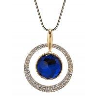 N2163 - Korean fashion high-grade crystal diamond round sweater chain