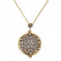 N2171 - Hollow snowflake pendant necklace
