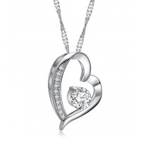 N2172 - Retro retro heart Necklace