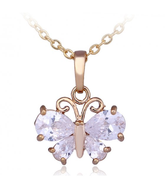N2174 - Butterfly Clavicle Necklace