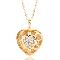 N2176 - Korean fashion exquisite Heart Necklace