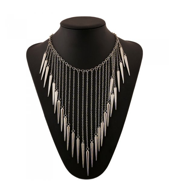 N2178 - Silver Spike Necklace
