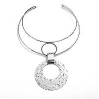 N2180 - Geometry Metal Collar Necklace