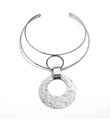 N2180 - Geometry Metal Collar Necklace