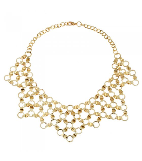 N2211 - Metal texture necklace