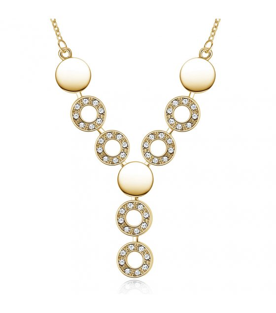 N2220 - Gold Droplet Necklace