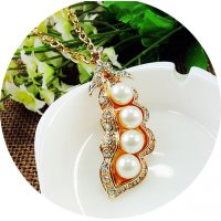 N2224 - Korean Pearl Sweater Chain Necklace