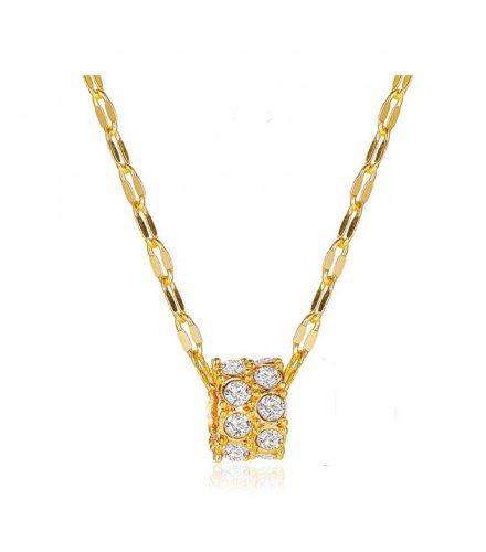 N2230 - Korean geometric pendant clavicle chain Necklace