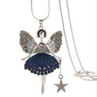 N2234 - Korean angel wings Necklace