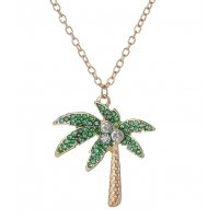 N2242 - Tropical flora Necklace