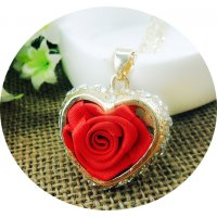 N2247 - Inlaid Rose Flower Love Sweater Chain