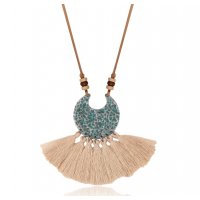 N2257 - Chain tassel pendant necklace