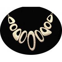 N2261 - Water drop geometric metal necklace