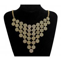 N2262 - Retro multi-layer Flower Necklace