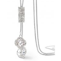 N2266 - Four-leaf clover diamond necklace