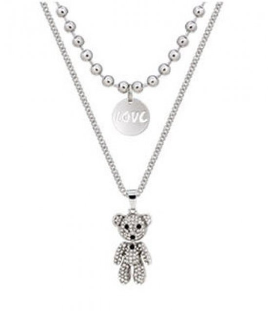 N2267 - Bear clavicle chain necklace