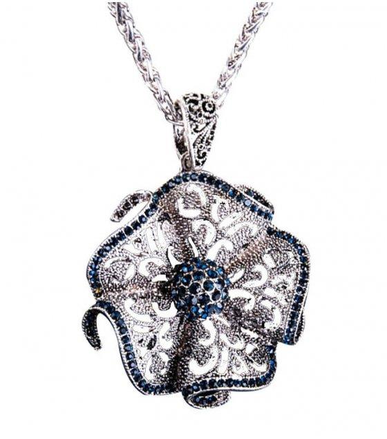 N2268 - Alloy diamond flower necklace