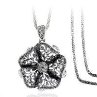 N2269 - Alloy diamond flower necklace