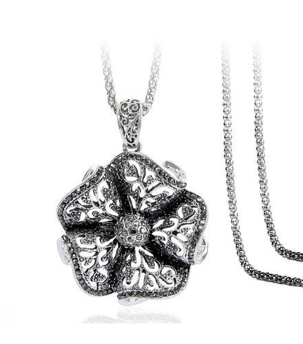 N2269 - Alloy diamond flower necklace