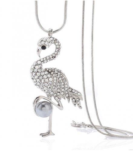 N2273 - Flamingo diamond pendant necklace