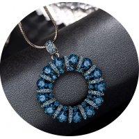 N2274 - Korean fashion diamond ring sweater chain