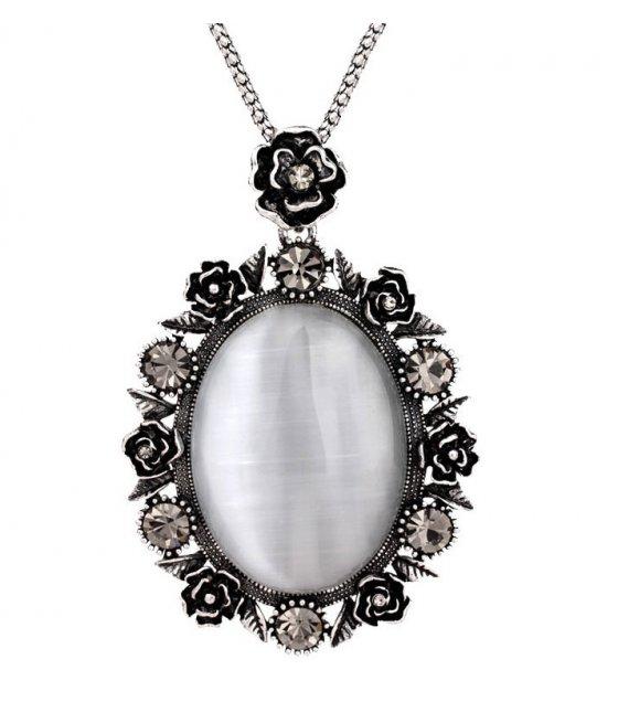 N2275 - Korean diamond rose sweater chain