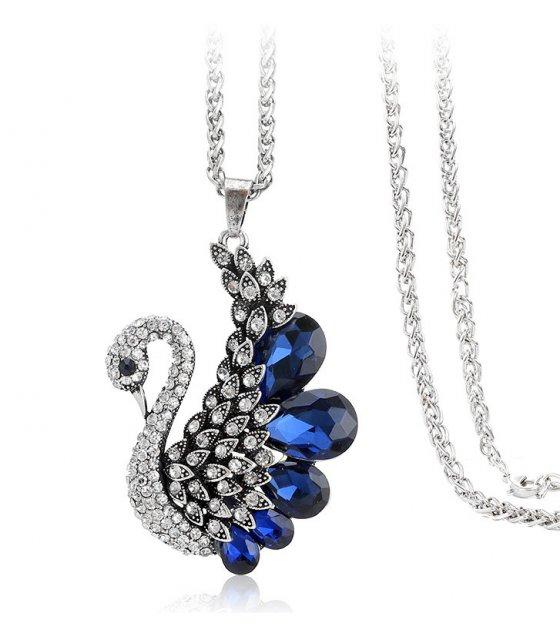 N2277 - Retro swan alloy diamond sweater chain