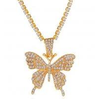 N2280 - Diamond Butterfly Necklace