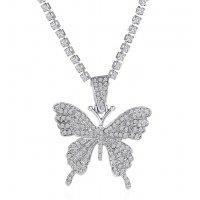N2281 - Diamond Butterfly Necklace