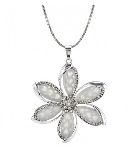 N2283 - Korean fashion opal flower necklace