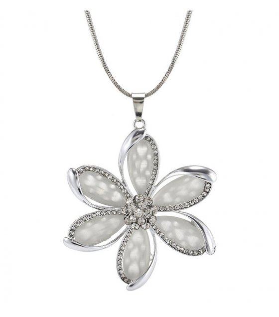 N2283 - Korean fashion opal flower necklace