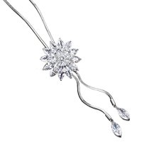 N2293 - Korean Crystal diamond snowflake new sweater chain