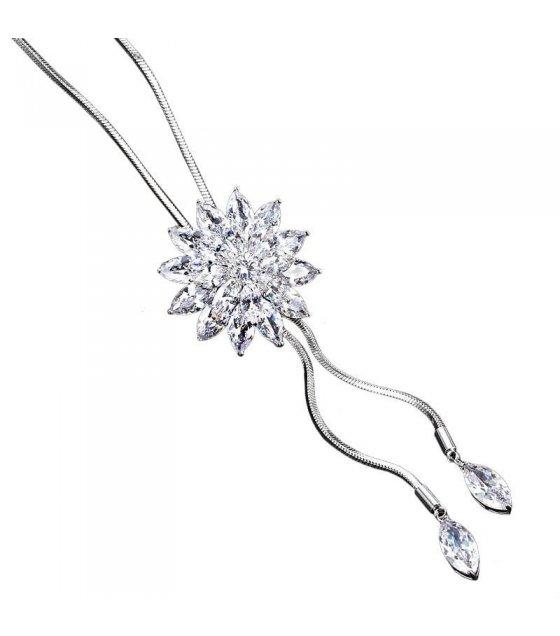 N2293 - Korean Crystal diamond snowflake new sweater chain