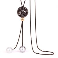N2296 - Korean ball pearl sweater chain