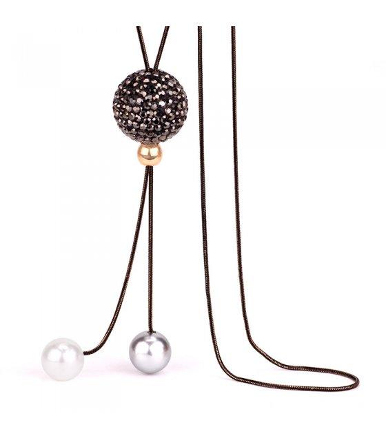 N2296 - Korean ball pearl sweater chain