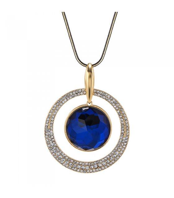 N2297 - Korean fashion high-end crystal diamond round sweater chain