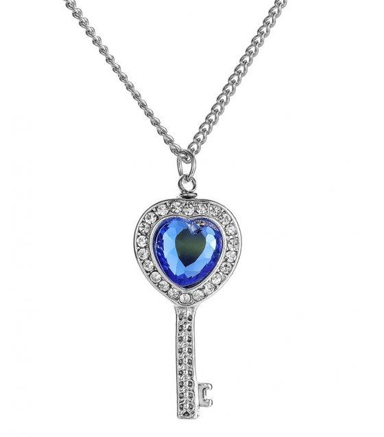 N2302 - Heart-shaped key urn pendant necklace
