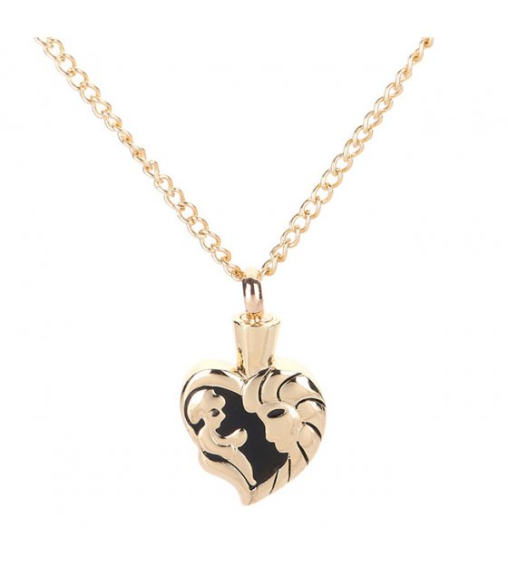N2304 - Heart Shaped Pendant Necklace