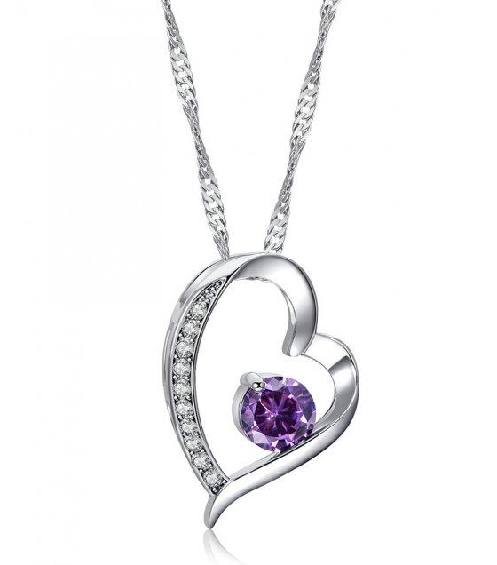 N2305 - Retro Heart Pendant Necklace
