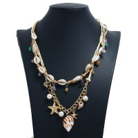 N2311 - Shell Starfish Pendant Necklace