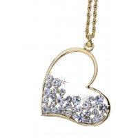N233 - Exquisite Full Diamond Love necklace